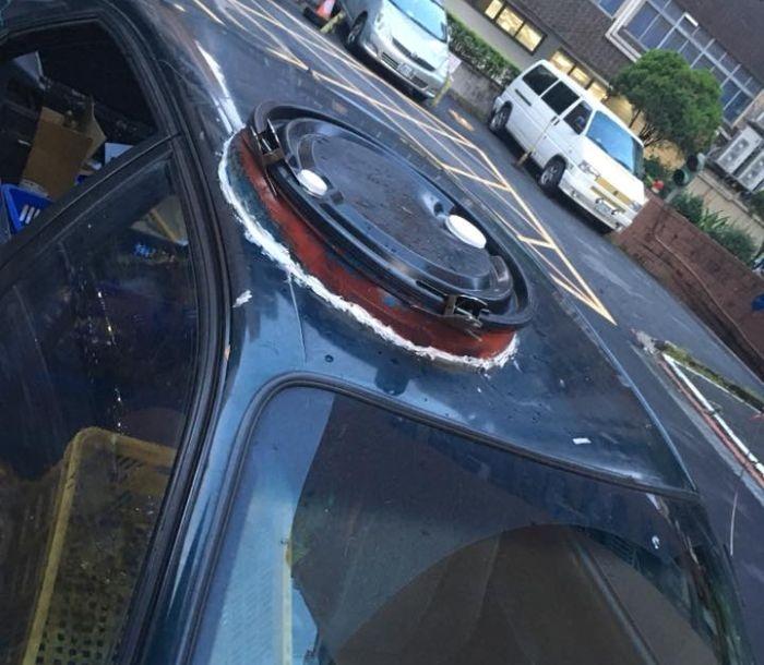 Самодельный люк в крыше авто