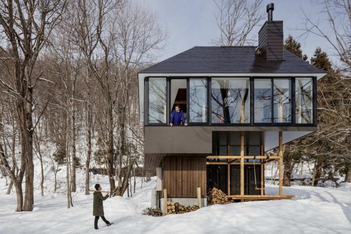 Дачный домик возле озера в Японии