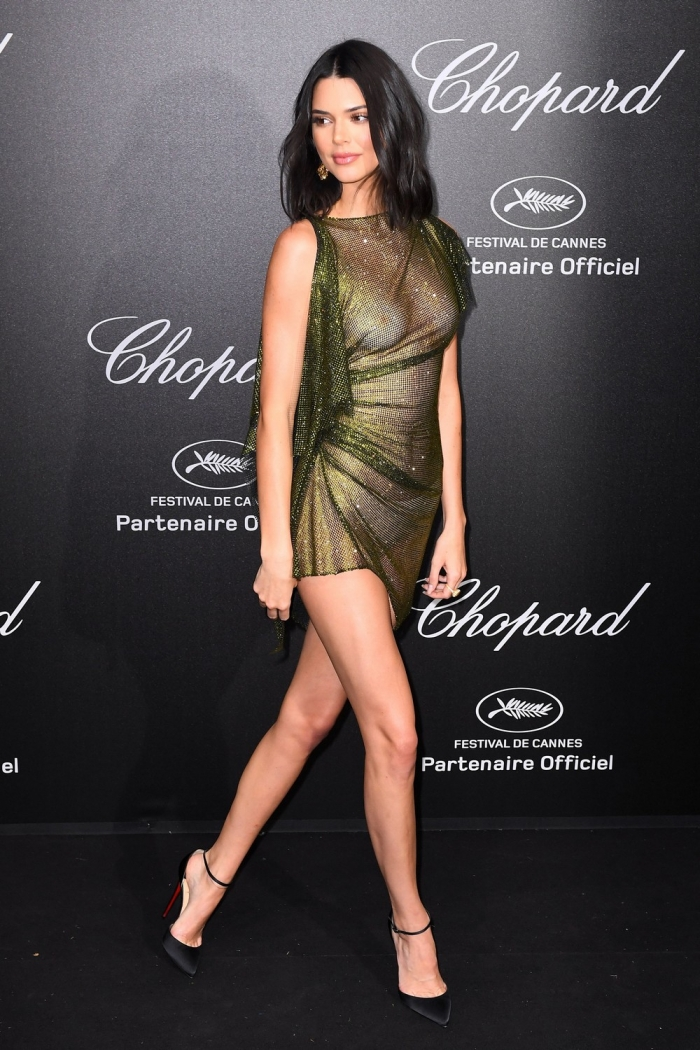 Кендалл Дженнер в просвечивающем платье