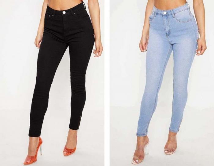 Модные джинсы с дырками на заднице