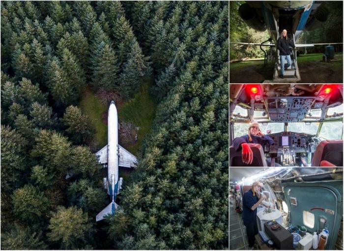 Американец купил старый Boeing за $220 000 и живет в нем в орегонском лесу