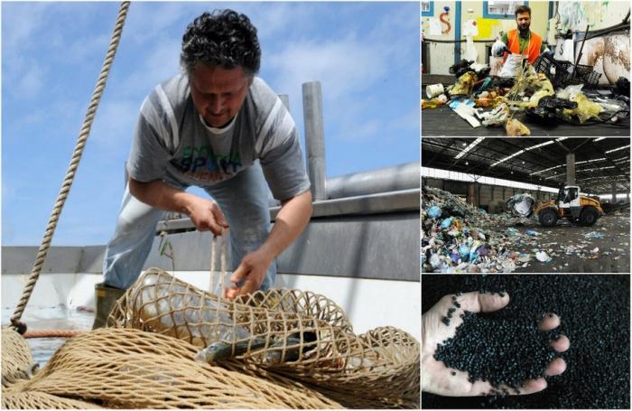 Рыбаки помогают очистить море от пластикового мусора