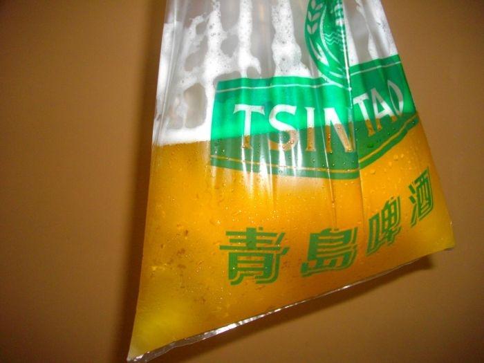 Пакетированное пиво из Китая