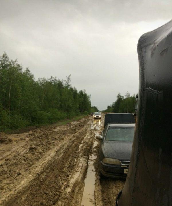 Грязевая ловушка на российской трассе