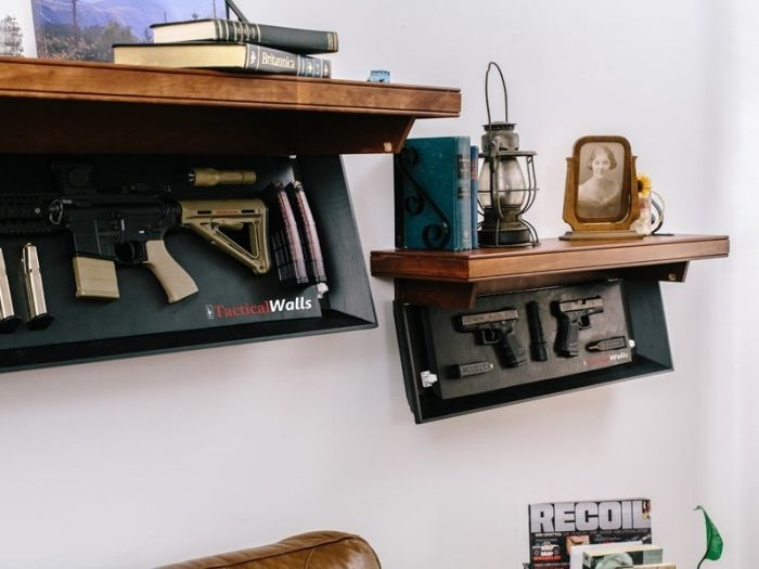 Креативная мебель для хранения оружия