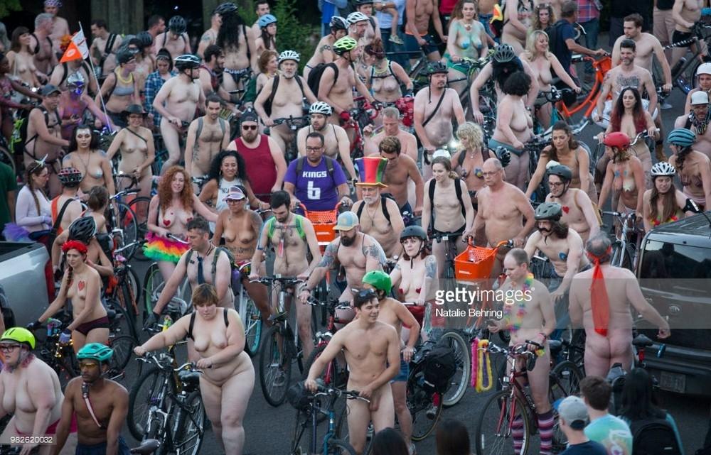 Portland's naked bike ride draws thousands