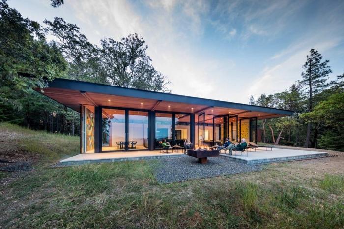 Лесное ранчо для загородного отдыха в США