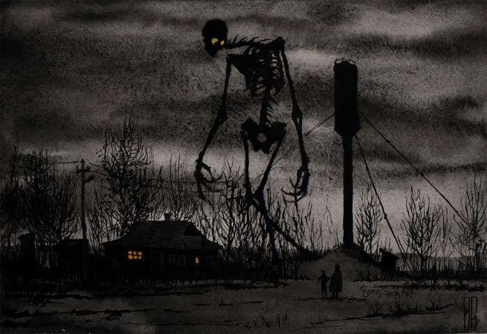 Мрачные иллюстрации Бориса Гроха