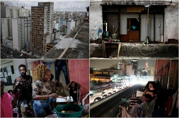 Жизнь в здании заброшенной швейной фабрике в Сан-Паулу