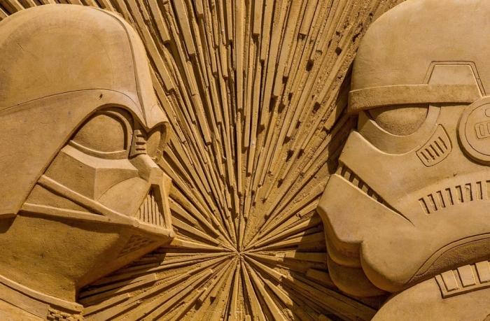 Фестиваль скульптур из песка в Бельгии