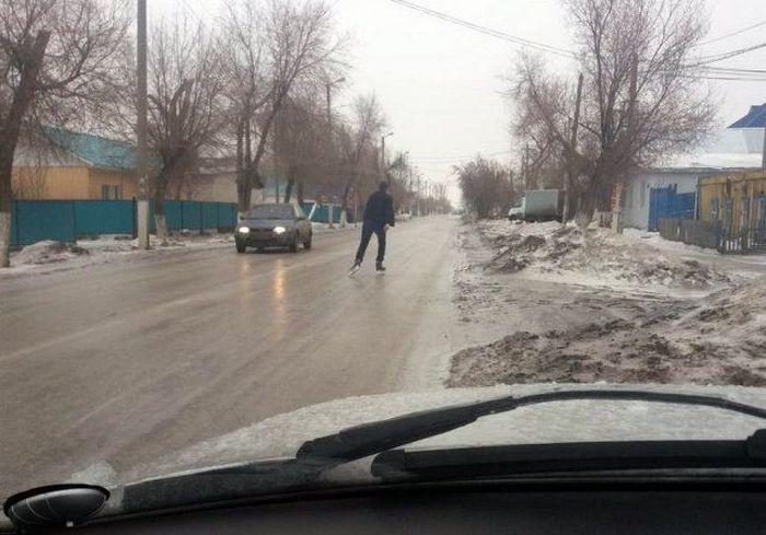 Юмор и фотографии с дорог нашей бескрайней