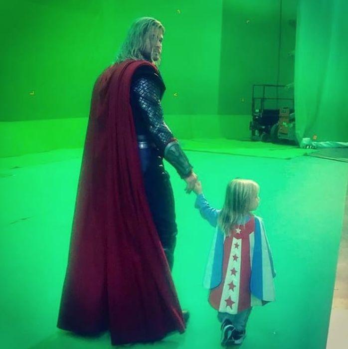 На съемочной площадке фильмов от Marvel
