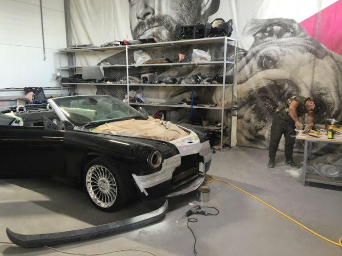 Уникальный автомобиль, собранный из Победы и BMW