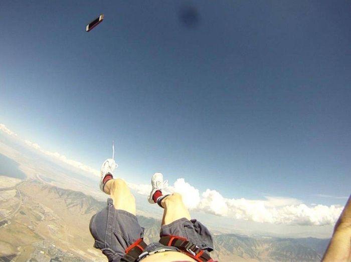 Фейл во время прыжка с парашютом