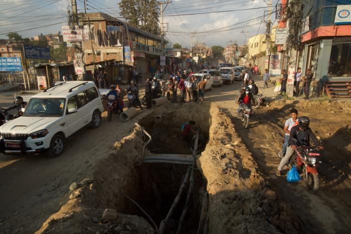 Ад на пригородных дорогах Катманду