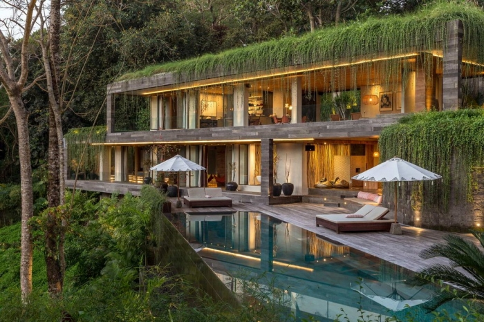 Вилла в индонезийских джунглях