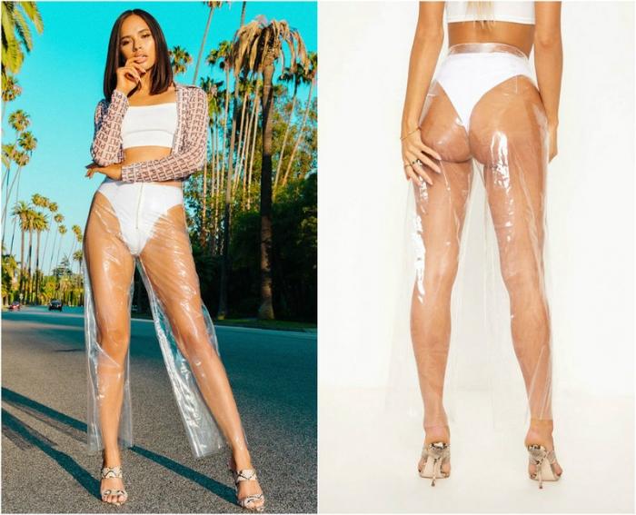 Последний писк моды: прозрачные штаны для девушек