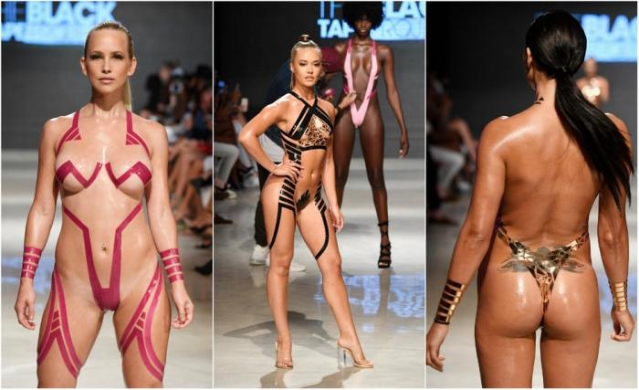 Новый модные тренд: купальники из изоленты