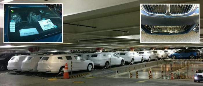 Новенькие BMW стоимостью более £11 миллионов были повреждены песком по пути в Великобританию