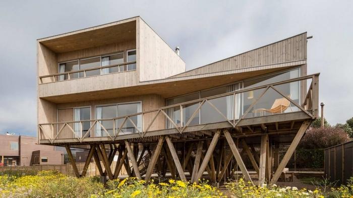 Дом с видом на океан в Чили