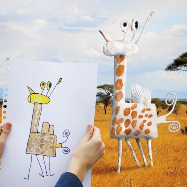 Детские рисунки в реальной жизни