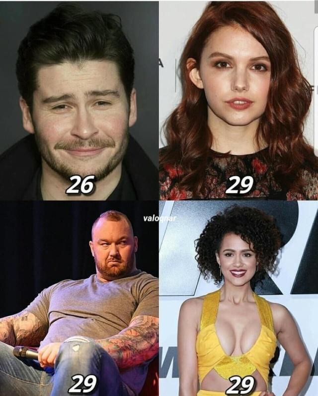 Возраст актеров, снимающихся в сериале