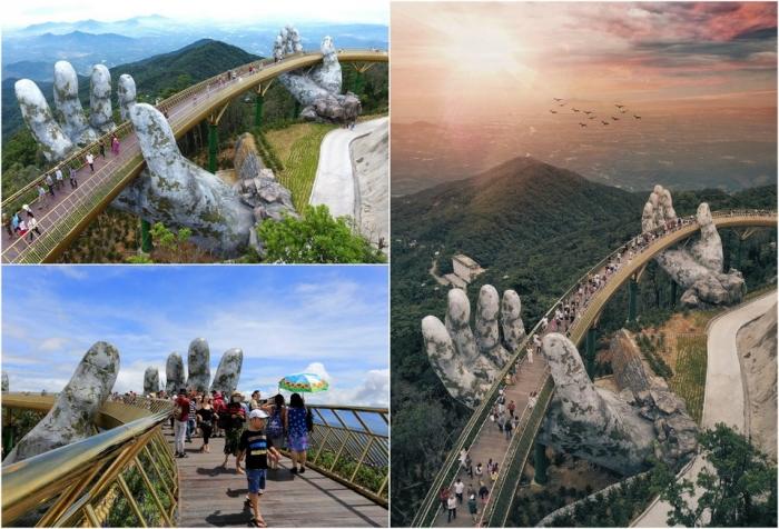 "Вьетнамский мост на двух ""человеческих"" ладонях"