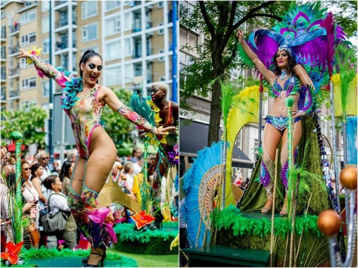 Яркий карнавал в Роттердаме