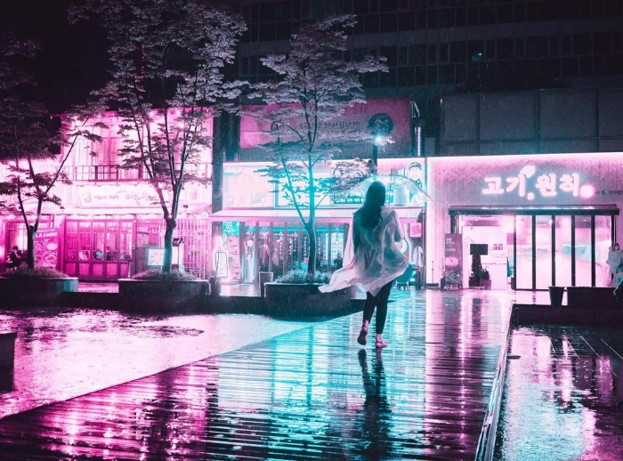Футуристические неоновые уличные фотографии Стива Рое