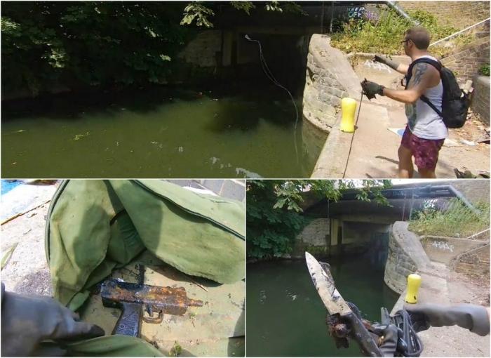 Британец выловил пистолет-пулемет Узи из канала в Лондоне