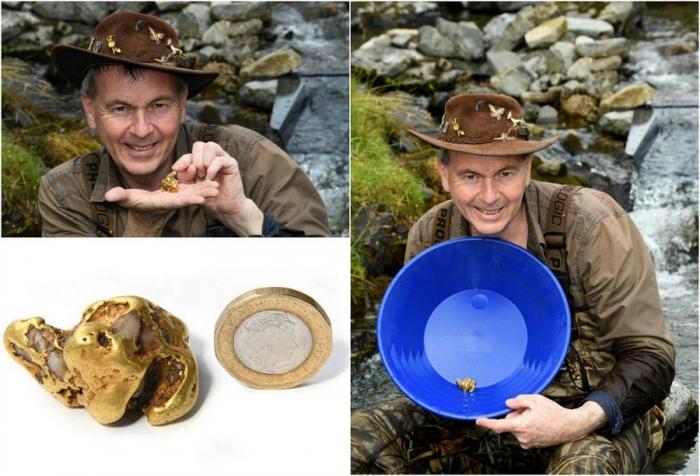 Золотой самородок стоимостью £50 000 найден в Шотландии