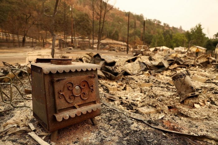 Страшные последствия лесных пожаров в Калифорнии