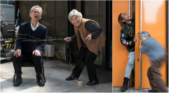 Жизнерадостные фото 90-летней японки