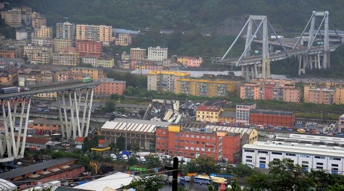 Страшные последствия обрушения моста в Италии
