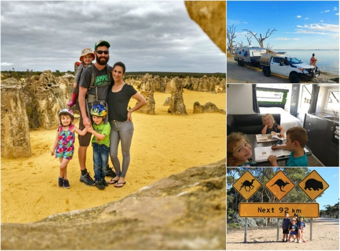 Австралийская семья из пяти человек продала дом и два года путешествует по стране