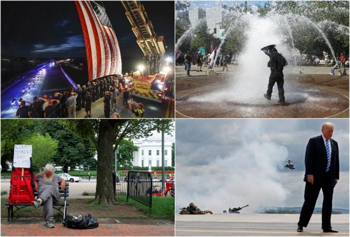 Августовские кадры из США