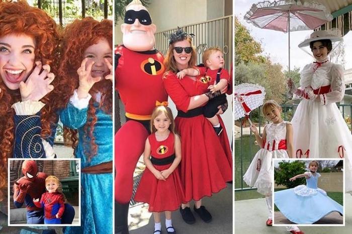 Американская семья посещает Диснейленд каждую неделю в костюмах любимых пер ...