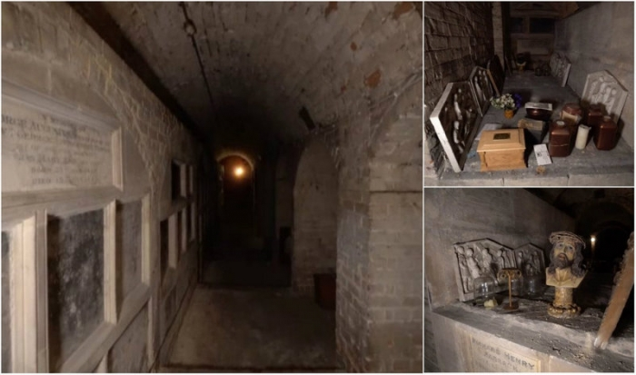 Скрытый от окружающих склеп со 150-летними останками