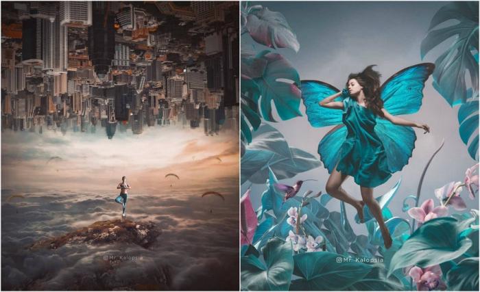 Футуристические и сказочные фотоманипуляции Eashan Misra