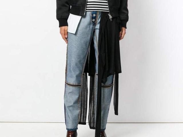 Новый тренд: вывернутые наизнанку джинсы