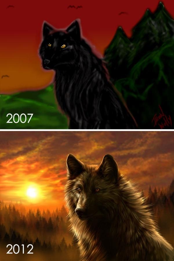 Прогресс мастерства в рисунках