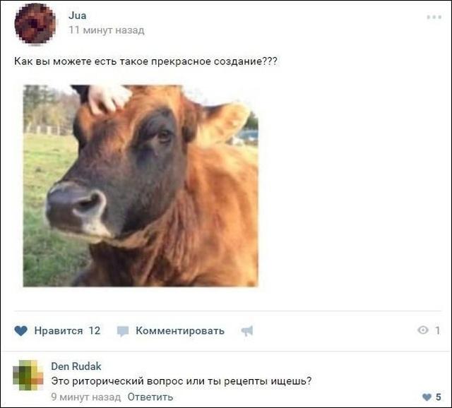 Забавные комментарии и юмор из социальных сетей