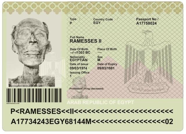 Паспорт для фараона