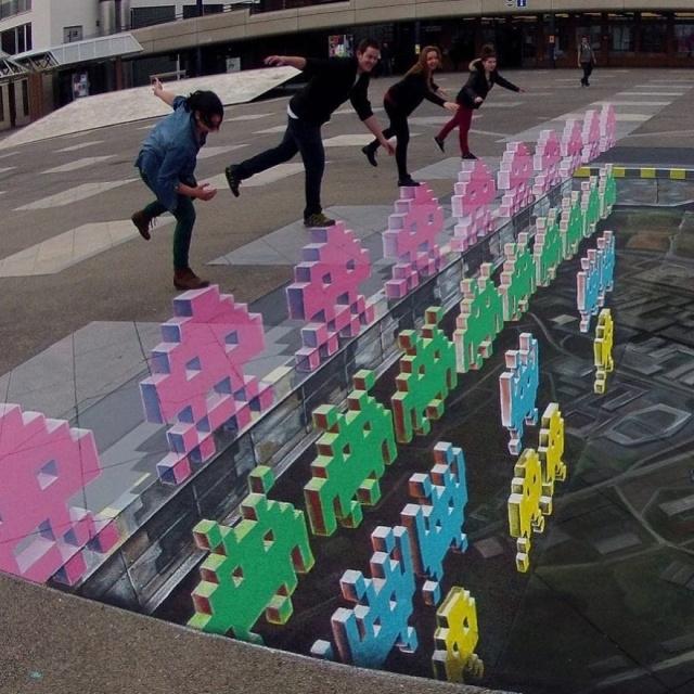 Невероятно реалистичные 3D-граффити