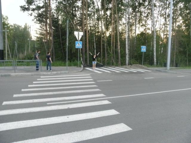 Пешеходный переход в Томске