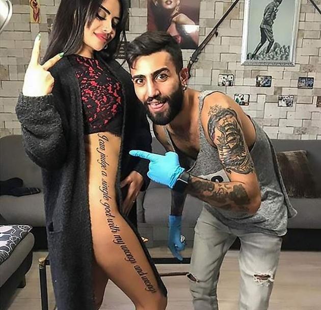 Instagram-звезда ошиблась с переводом для своей татуировки