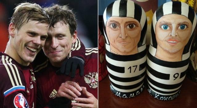 Сувенирные матрешки Кокорина и Мамаева в тюремной форме