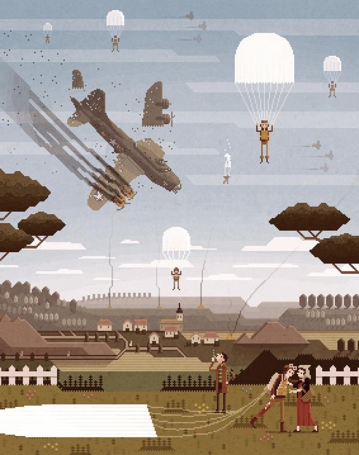 Пиксельные иллюстрации Octavi Navarro