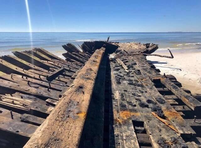 Ураган Майкл обнажил обломки кораблей 19 века
