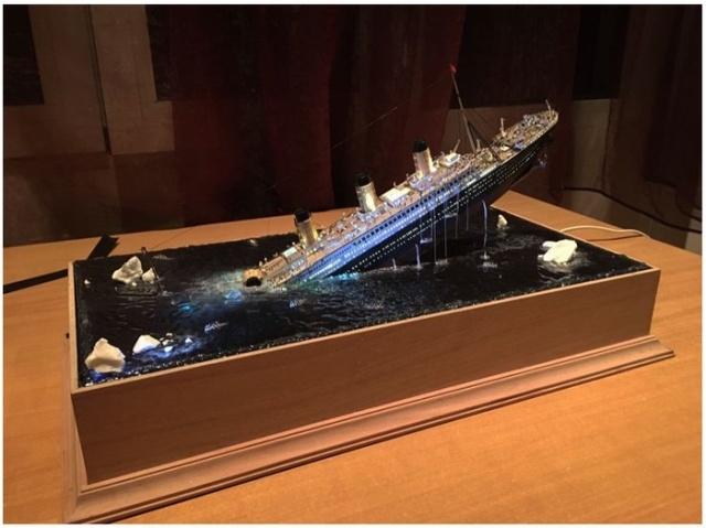 """Удивительная диорама """"Крушение Титаника"""""""